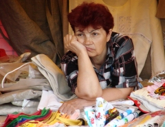 The boredom of this Moscow street seller could be very bad for her health [Credit: Wikipedia]