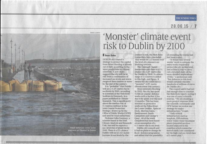 Monster Climate Event Dublin 2100