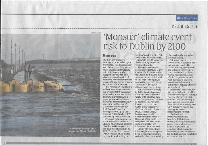 Monster Climate Event Dublin 2100