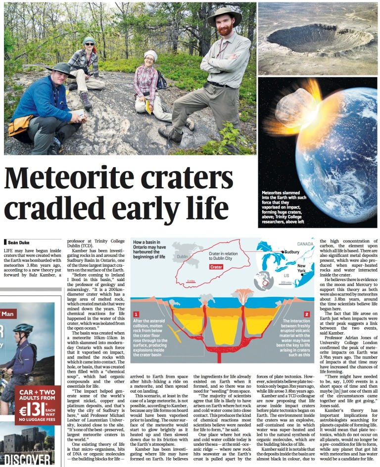 an analysis of meteor craters in the surface of the earth Abstract carbonate samples from the 89-mt nuclear (near-surface explosion) crater, oak, and a terrestrial impact crater, meteor crater, were analyzed for shock damage using electron paramagnetic resonance (epr.